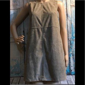 Grey faux suede dress - NWT